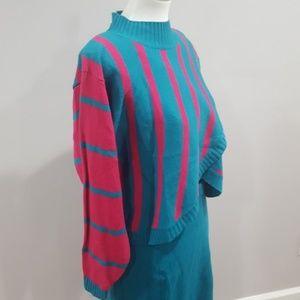 SALE NWT Vintage 80s Sweater Skirt Suit
